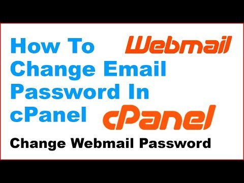 How To Change Webmail Password In cPanel | Resetting Webmail Password In cPanel