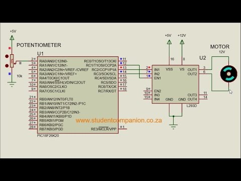 MPLAB XC8 for Beginners Tutorial -34- DC Motor Speed Control
