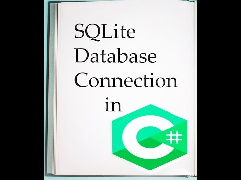 Sqlite database connection in vs 2010,2012. C#.net. PART 1