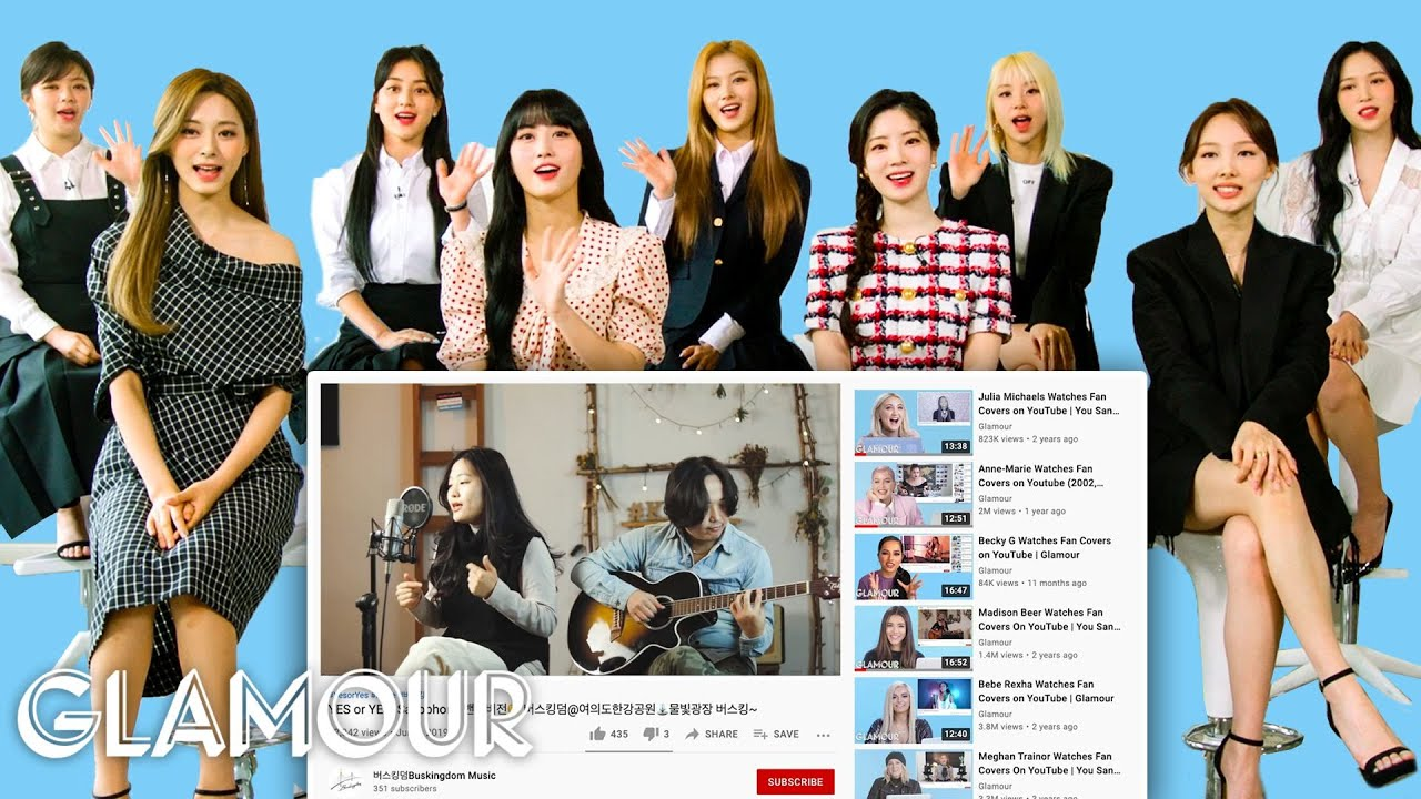 TWICE Watches Fan Covers on YouTube   Glamour