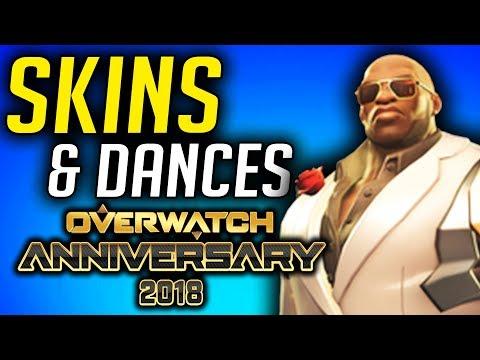 Overwatch Anniversary Skins & Dances 2018
