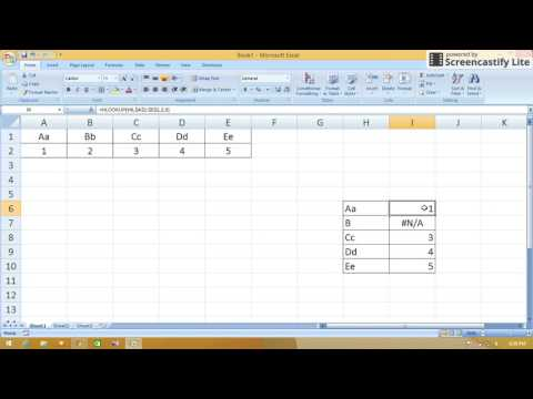 How to use HLOOKUP in MS Excel : Excel Tutorial