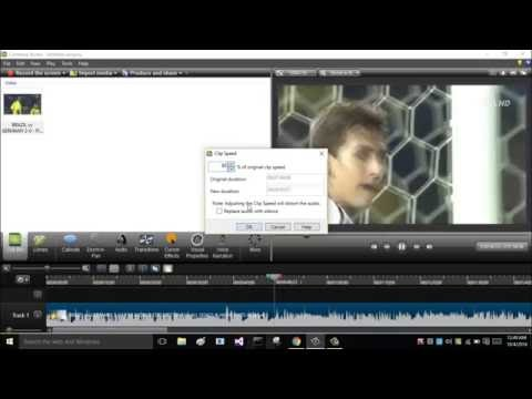 how to speed up/down video in camtasia studio