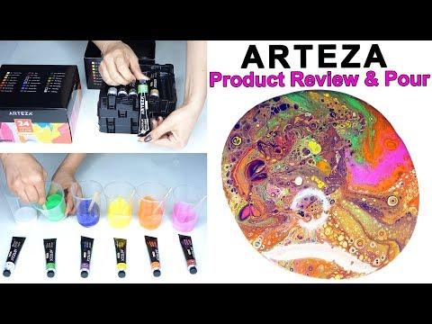 Fluid Acrylic Pouring ARTEZA Acrylic Review