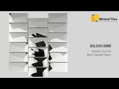 Stainless Steel Tile Mirror Stacked Pattern - BALSH016MM