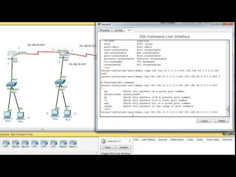 Configuring cisco extended acl / extended named access control list tutorial using packet tracer
