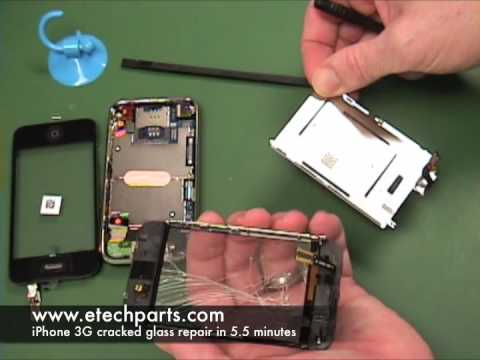 Easiest way to repair iPhone 3G cracked glass screen and digitizer, expert video!