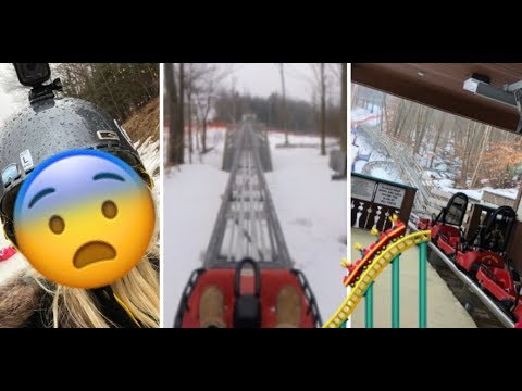 Roller Coaster IN THE SNOW