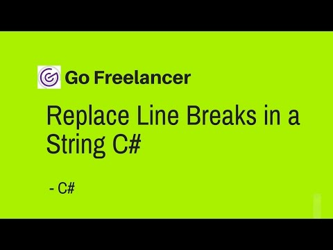Replace Line Breaks in a String C#