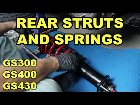 1998-2005 Lexus GS Rear Strut and Spring Replacement