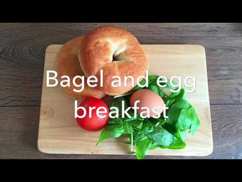 Bagel and egg Breakfast