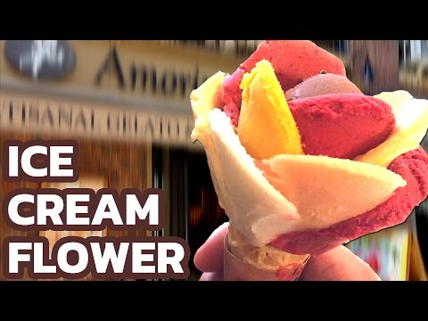 Ice Cream Flower | The Art of Making Ice Cream - Delicious colorful Flower/Rose Cone / Frozen Food