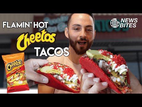 TACO SHELLS MADE WITH FLAMIN' HOT CHEETOS?! || NEWS BITES