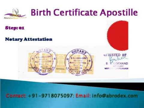 Birth Certificate Apostille in India, MEA Apostille of Birth Certificate