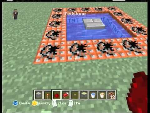 Minecraft Xbox 360 How To Make A Human TnT Cannon