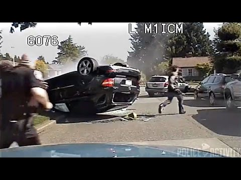 Seattle Police Chase Of Stolen Car Ends in Dramatic Crash
