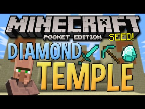 Desert Temple Village Seed With Diamonds! - Minecraft Pocket Edition