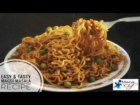 Quick And Easy Tasty Maggi Masala Recipe In Telugu