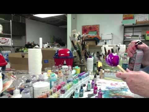 Alcohol Ink Ornaments   The Sequel Part 1 - Patti Tolley Parrish - Inky Obsessions