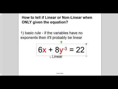 lesson - linear or non linear