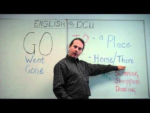 Alan - English at Dublin City University - Go and Irregular Verbs