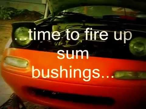 How to remove control arm bushings with fire (MIATA) PART 2 of 2