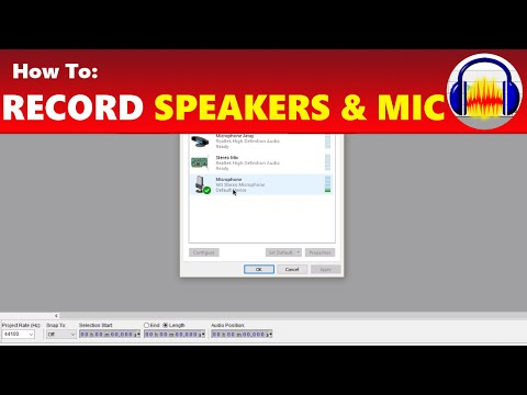 How To: Record Speakers & Microphone At Same Time In Audacity