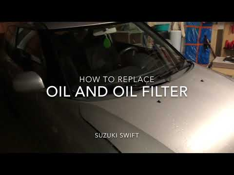 How to change your oil and filter car oil change Suzuki Swift maintenance DIY