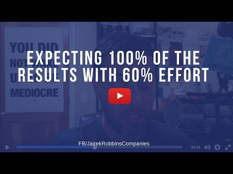 FB Repost: Expecting 100% of the results with 60% effort
