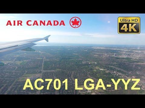 Trip Report (4K) Air Canada AC701 Economy New York LaGuardia (LGA) to Toronto Pearson (YYZ)