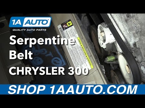 How to Install Replace Serpentine Belt 2005-10 3.5L V6 Chrysler 300