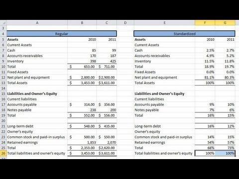 Financial Statement Analysis #1: Common Size Statements and Operation Analysis