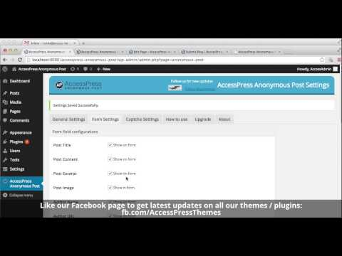 How to use Anonymous Post Plugin - Free WordPress Plugin - AccessPress Themes