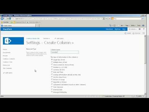 Creating List Columns in SharePoint 2013