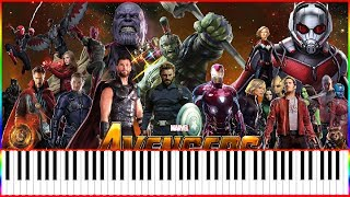 Avengers Infinity War Official Trailer Music (Synthésia Piano Tutorial)+MIDI