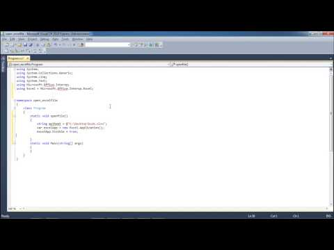 How to Open Excel File in C#
