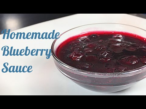 Easy Blueberry Sauce | Homemade Topping for Waffles, Pancakes, Crepes