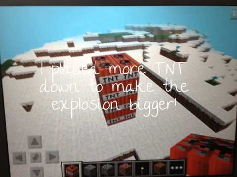 Minecraft Pocket Edition, trying to get TNT to blow up on Creative