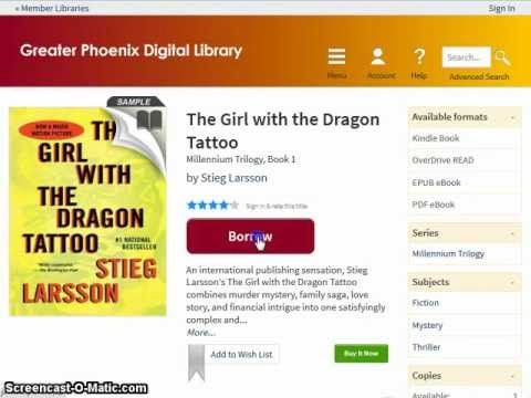 How to download an ebook from the library