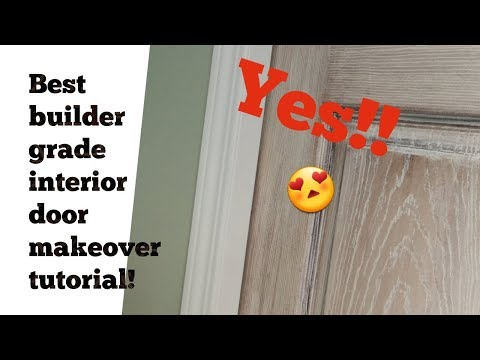 How to SLAY a makeover on a boring interior door - easily!!