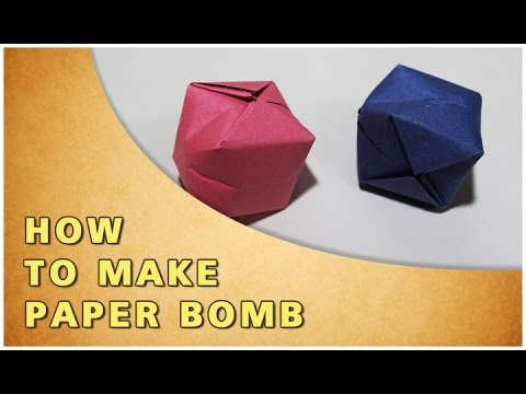 ORIGAMI | HOW TO MAKE PAPER BOMB | TRADITIONAL PAPER TOY