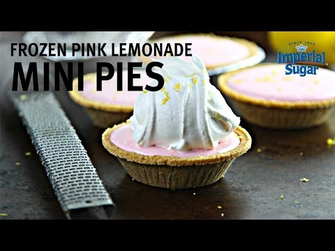 How to Make Frozen Pink Lemonade Mini Pies