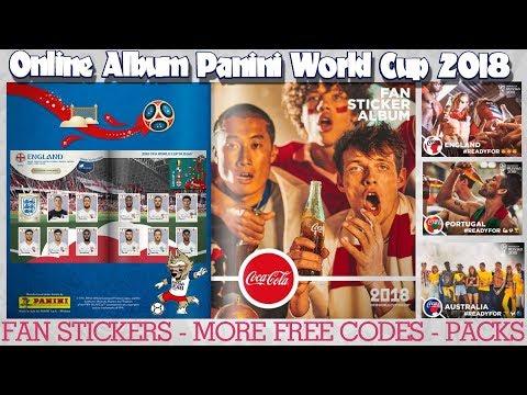 ⚽ FREE CODES & COCA-COLA FAN STICKERS | Panini FIFA WORLD CUP 2018 STICKER ALBUM  ⚽ VIRTUAL ONLINE!