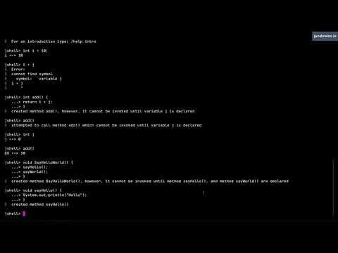 JShell Basics 08 - Forward references