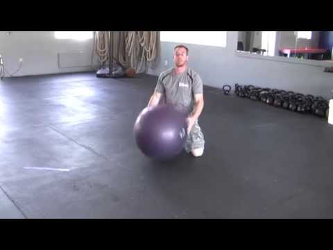 Reverse Physio Ball Hyperextension