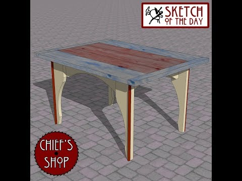 Chief's Shop Sketch of the Day: Patio Breakfast Table