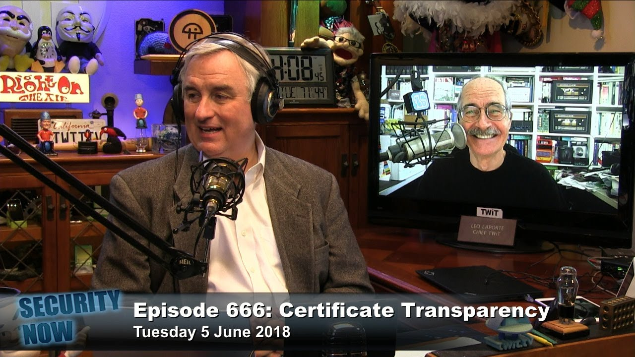 Security Now 666: Certificate Transparency