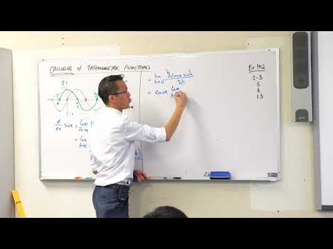 Calculus of Trigonometric Functions (3 of 3: Proving the basic derivative)