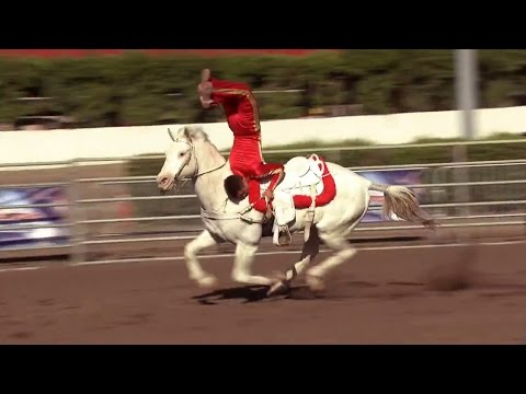 America's Got Talent 2015 S10E06 The Wild West Express Kids Perform Acrobatic Trick Horse Riding