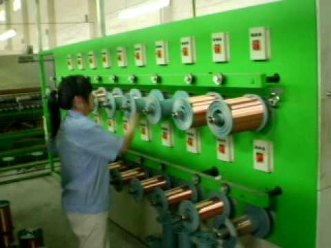Enameled machine operation